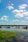 Βάρκες στον ποταμό Δούναβης Στοκ εικόνες με δικαίωμα ελεύθερης χρήσης