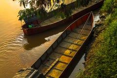 Βάρκες στον ποταμό Στοκ φωτογραφίες με δικαίωμα ελεύθερης χρήσης