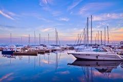 Βάρκες στο λιμάνι του Τορόντου Στοκ Εικόνες