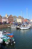 Βάρκες στο λιμάνι Arbroath Angus Σκωτία Arbroath Στοκ φωτογραφία με δικαίωμα ελεύθερης χρήσης