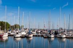 Βάρκες στο λιμάνι Thornbury Στοκ φωτογραφία με δικαίωμα ελεύθερης χρήσης