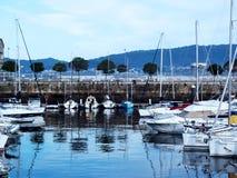 Βάρκες στο λιμένα του Vigo, Γαλικία Στοκ Φωτογραφία