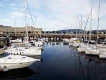 Βάρκες στο λιμένα του Vigo, Γαλικία Στοκ Εικόνες