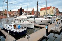 Βάρκες στο ιστορικό ναυτικό Στοκ Εικόνες