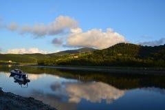 Βάρκες στο νερό Στοκ Εικόνες