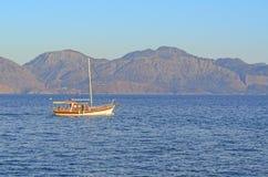 Βάρκες στο νησί της Κρήτης Στοκ Φωτογραφία