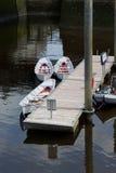 Βάρκες στο πεντάστιχο Στοκ εικόνα με δικαίωμα ελεύθερης χρήσης