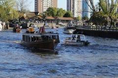 Βάρκες την ηλιόλουστη ημέρα Στοκ Εικόνες