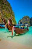 Βάρκες του νησιού phi-Phi Στοκ Φωτογραφίες