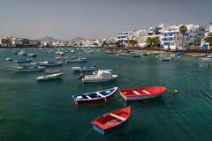 Βάρκες του Φίσερ Arrecife, Lanzarote Στοκ Εικόνες