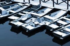 βάρκες χιονώδεις Στοκ εικόνα με δικαίωμα ελεύθερης χρήσης