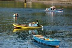 Βάρκες ψαράδων με Στοκ Φωτογραφία