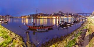 Βάρκες Rabelo στον ποταμό Douro, Πόρτο, Πορτογαλία Στοκ φωτογραφία με δικαίωμα ελεύθερης χρήσης