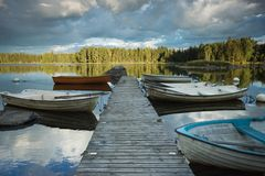 βάρκες ridged Στοκ Εικόνα