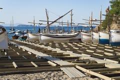 Βάρκες Sa Riera Στοκ φωτογραφία με δικαίωμα ελεύθερης χρήσης