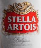 Βάρνα, Βουλγαρία - 28 Μαΐου 2018: Το Alluminium μπορεί της Στέλλα Artois β Στοκ Εικόνες