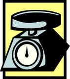 βάρος κλίμακας κουζινών Στοκ εικόνες με δικαίωμα ελεύθερης χρήσης