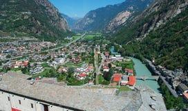 Βάρδος, η κοιλάδα Aosta, Ιταλία, Ευρώπη Στοκ εικόνα με δικαίωμα ελεύθερης χρήσης