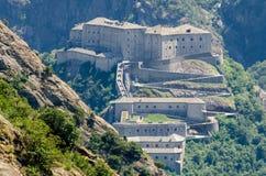 Βάρδος οχυρών, κοιλάδα Aosta Στοκ Εικόνα