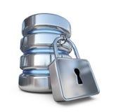 Βάση δεδομένων ασφαλής Προστατεύστε τα στοιχεία αποθήκευσης τρισδιάστατο εικονίδιο ελεύθερη απεικόνιση δικαιώματος