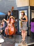 Βάση και Saxophone Στοκ Φωτογραφία