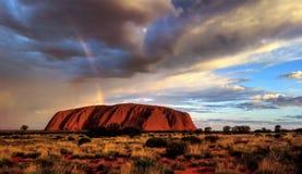 Βάση του βράχου Uluru/Ayers Στοκ εικόνα με δικαίωμα ελεύθερης χρήσης