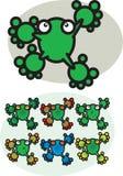 βάτραχοι κινούμενων σχεδί διανυσματική απεικόνιση