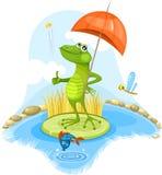 βάτραχος αστείος διανυσματική απεικόνιση