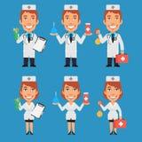 Βάτραχος βαλιτσών Enema εκμετάλλευσης γιατρών και νοσοκόμων διανυσματική απεικόνιση