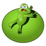 Βάτραχος ηρώων κινούμενων σχεδίων Στοκ Εικόνες