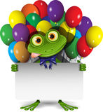 Βάτραχος και μπαλόνια Στοκ φωτογραφία με δικαίωμα ελεύθερης χρήσης