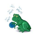 Βάτραχος και σφαίρα διανυσματική απεικόνιση