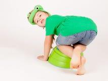 Βάτραχος παιδιών Στοκ φωτογραφίες με δικαίωμα ελεύθερης χρήσης