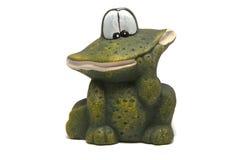 Βάτραχος σε μια άσπρη ανασκόπηση Στοκ εικόνες με δικαίωμα ελεύθερης χρήσης