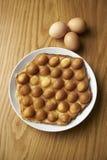 Βάφλα αυγών στοκ φωτογραφία