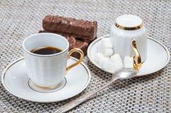 Βάφλες καφέ και σοκολάτας Στοκ Εικόνα