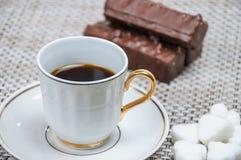 Βάφλες καφέ και σοκολάτας Στοκ Φωτογραφίες