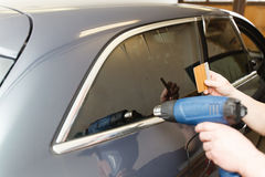 Βάψιμο του γυαλιού στο αυτοκίνητο Στοκ Εικόνες