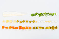 Βάλτε τα τρόφιμα στον πίνακα Στοκ Εικόνα