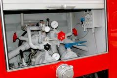 βάλτε φωτιά στο κόκκινο truck Στοκ φωτογραφία με δικαίωμα ελεύθερης χρήσης