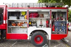βάλτε φωτιά στο κόκκινο truck στοκ φωτογραφίες με δικαίωμα ελεύθερης χρήσης