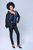 Βέβαια επιχειρησιακή γυναίκα μαύρων Αφρικανών στοκ φωτογραφίες με δικαίωμα ελεύθερης χρήσης