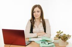 Βέβαιος δάσκαλος στο γραφείο σας Στοκ φωτογραφία με δικαίωμα ελεύθερης χρήσης