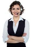 Βέβαιος ανώτερος υπάλληλος προσοχής πελατών Στοκ Εικόνες