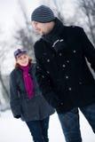 βέβαιος αρσενικός χειμών&a στοκ φωτογραφίες