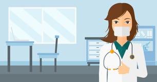 Βέβαιος γιατρός στη μάσκα Στοκ εικόνες με δικαίωμα ελεύθερης χρήσης