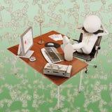 βέβαιος εργαζόμενος γραφείων Στοκ εικόνα με δικαίωμα ελεύθερης χρήσης