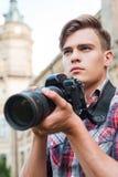 Βέβαιος φωτογράφος Στοκ φωτογραφία με δικαίωμα ελεύθερης χρήσης