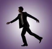 Βέβαιο τρέξιμο επιχειρηματιών στοκ φωτογραφία με δικαίωμα ελεύθερης χρήσης