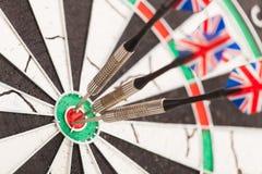 Βέλη βελών dartboard Στοκ Εικόνες